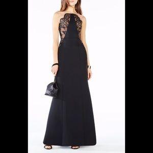 NWT! BCBGMaxAzria Lilyana Lace-Blocked Gown